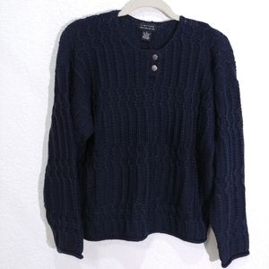 Limited  Vintage Cable knit  Navy Sweater New S